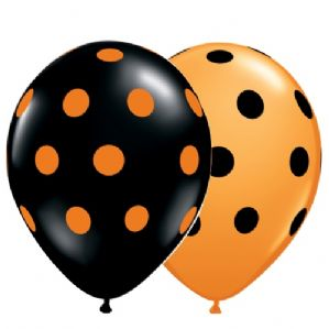 Halloween Latex Balloons | Polka Dots | Free Delivery